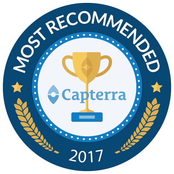 Capterra - most recommended award