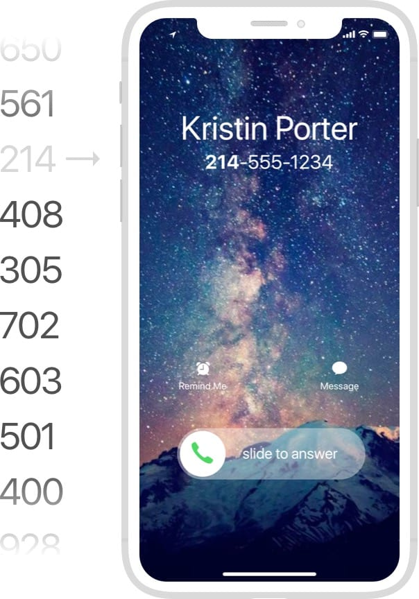 dynamically change your phone number based on users location