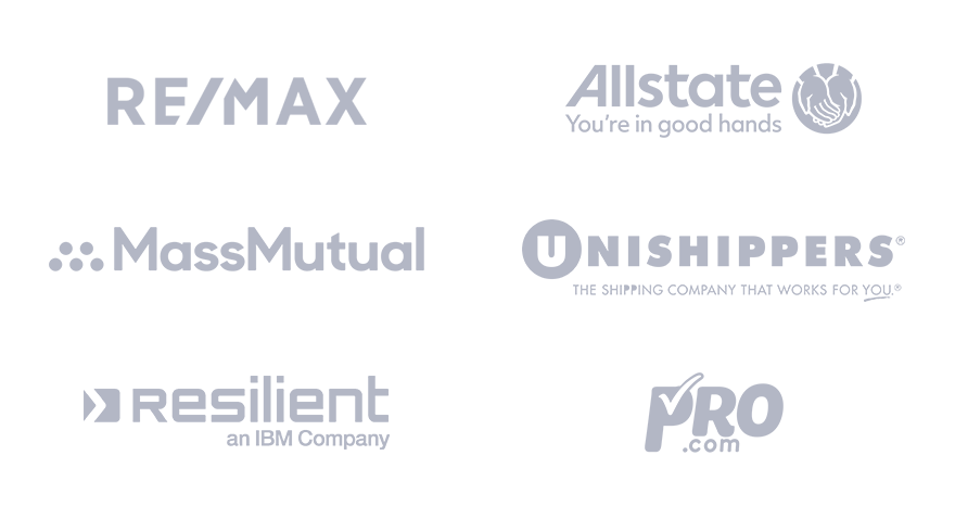 Remax allstate MassMutual Unishippers Resilient Pro logos